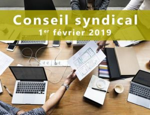 Réunion du conseil syndical @ D4-2019
