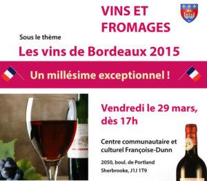 Activité vins et formages @ Centre communautaire et culturel Françoise-Dunn
